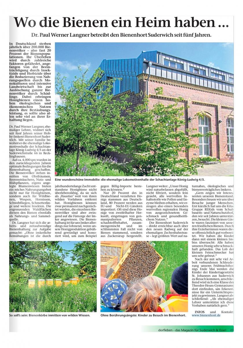 Quelle: dorfleben – das Magazin für Suderwich & Essel, Ausgabe Juni 2019.