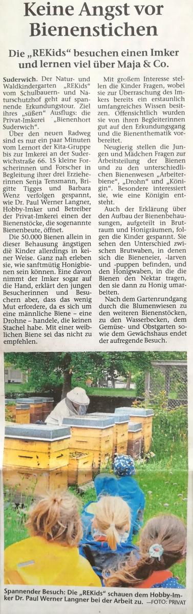 Quelle: Recklinghäuser Zeitung  Ausgabe Juni 2019.